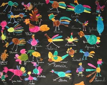 Fresque peinture cole maternelle - Dessiner une oie ...