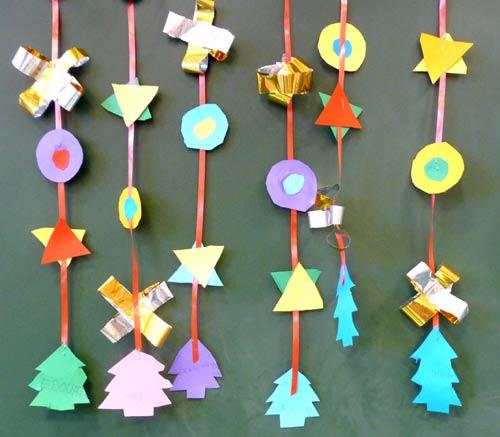 Guirlandes de no l cole maternelle for Fabrication decoration de noel