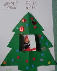 Fabriquer carte sapin cole maternelle - Fabrication d un pere noel ...