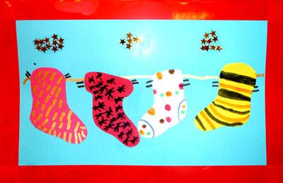 Carte chaussettes de no l - Chaussette de noel a fabriquer ...