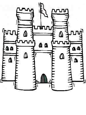 Chateau fort dessin couleur - Chateaux dessin ...