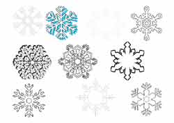 coloriage de flocons